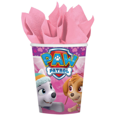 Paw Patrol Pink Party Cups - 8 Pk