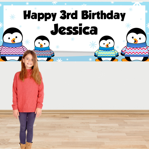 Penguin PERSONALIZED Giant Banner