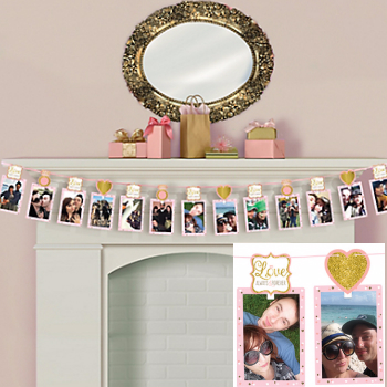 50% OFF: Love Sparkling 12 Ft. Photo Garland