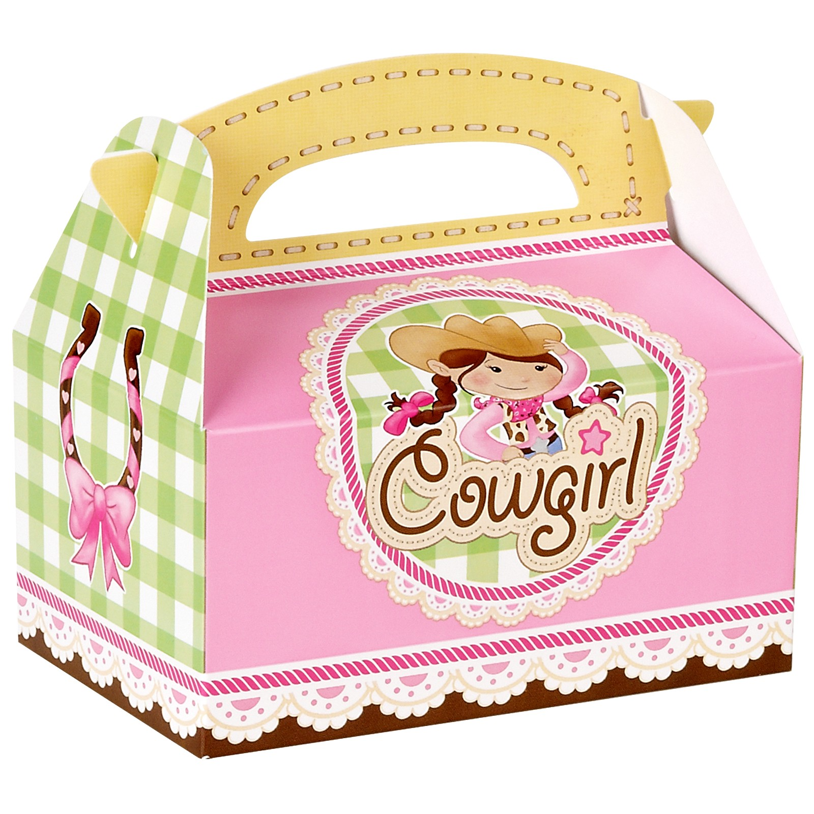 Pink Cowgirl Empty Favour Boxes