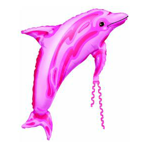Pink Dolphin Supershape Foil Balloon