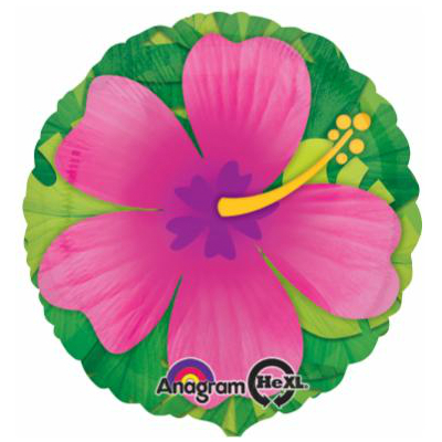 Pink Tropical Hibiscus Balloon