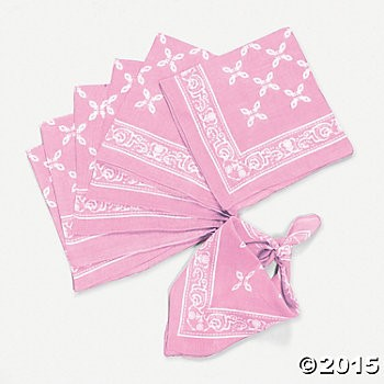 Western Party Supplies: Pink Print Bandana