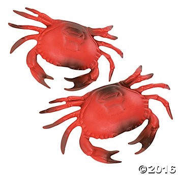 Plastic Crab Decoration