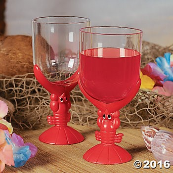 Plastic Lobster Glasses - 12 Pk