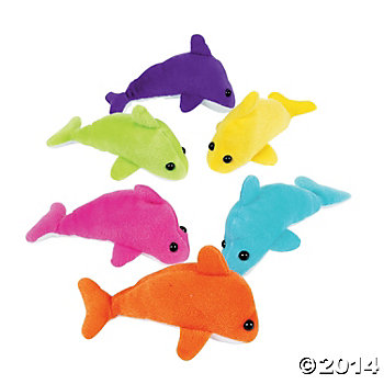 Dolphin Party: Plush Mini Dolphins 12 pk