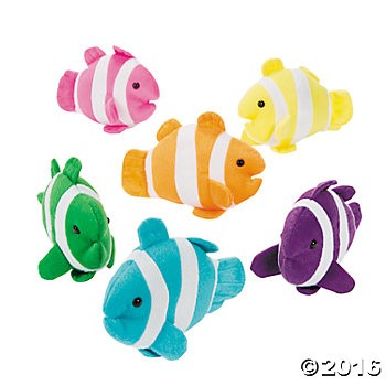 Plush Clown Fish - 12 Pk