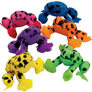 Plush Spotted Frogs - 12 Pk