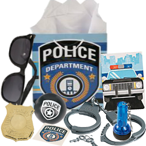 Police Loot Gift Bag Filled