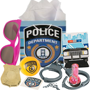 Police Girl Loot Gift Bag Filled