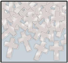 Silver Cross Table Confetti