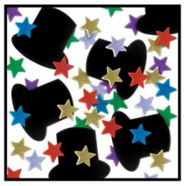Confetti Top Hats & Stars Multi