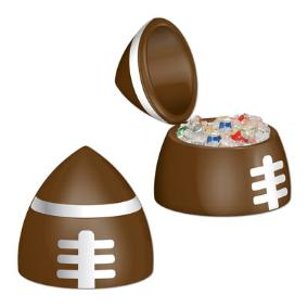 Football Party: Football Drink Cooler