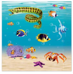 Under the Sea Lunch Napkins 16 Pk