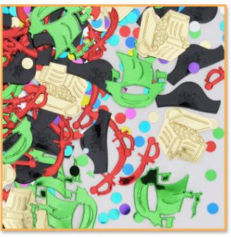 Pirate Party Supplies - Lg Table Confetti Bag