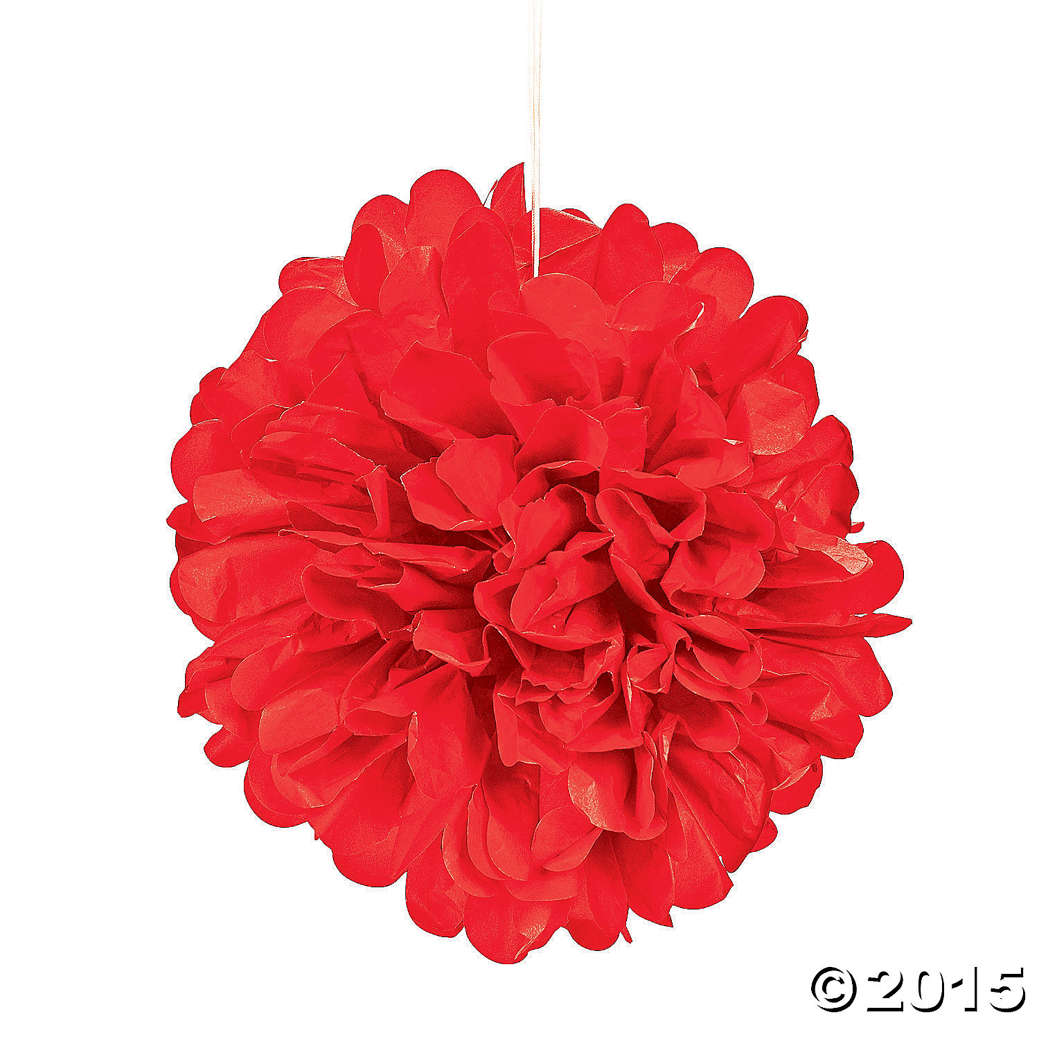 Red Pom-Pom Tissue Decorations - 6pk