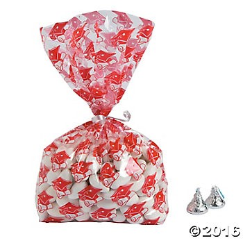 Graduation - Red Cellophane Bags - 12pk