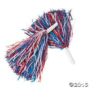 Red, White & Blue Pom-Poms - 12 Pk