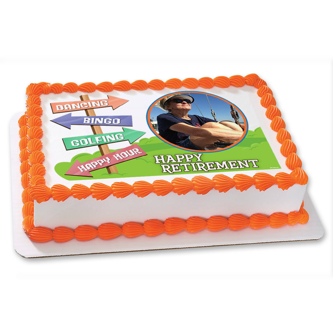 Retirement PERSONALIZED Photo Edible Icing
