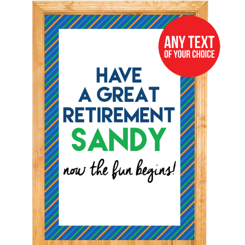 Retirement PERSONALIZED Door Sign