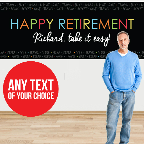 Retirement Chalk PERSONALIZED Giant Banner