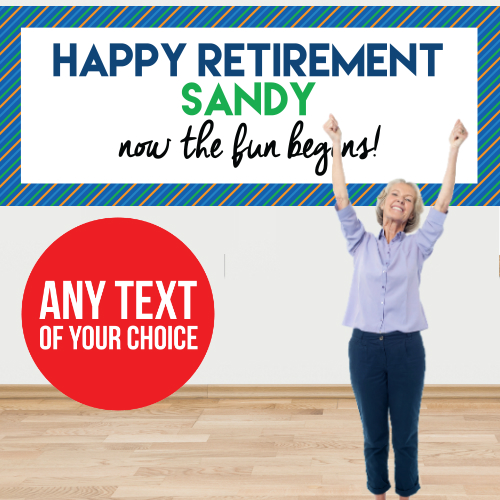 Retirement PERSONALIZED Giant Banner