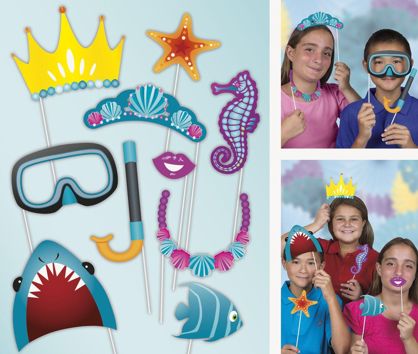 Under The Sea Photo Props - 10 Pk