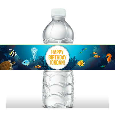 Under The Sea PERSONALIZED Bottle Labels - 5 Pk