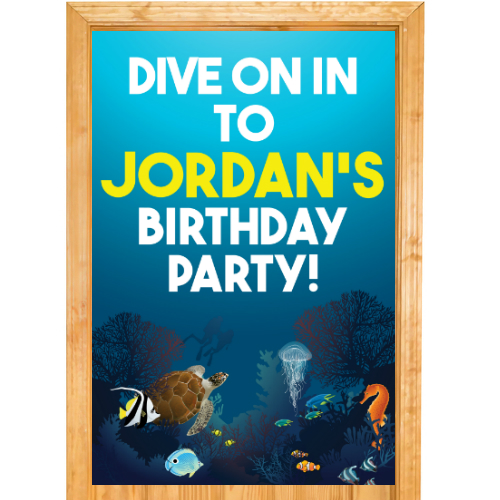 Under the Sea PERSONALIZED Door Sign
