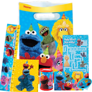 Sesame Street Loot Bag With 6 Toys