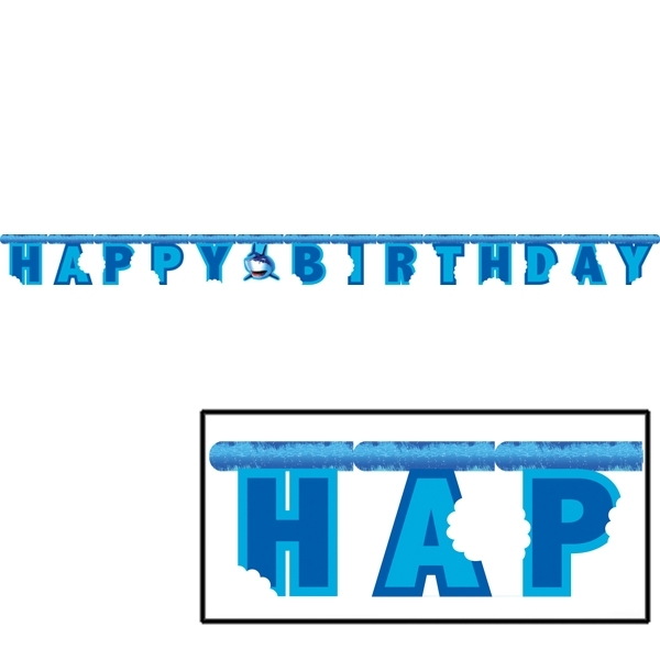 Shark Party Supplies: Birthday Banner 8 Ft.