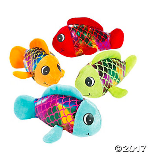Plush Shiny Fish - 12 Pk