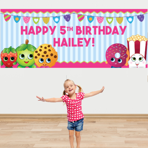 Shopkins Birthday Banner Shopkins Party Banner: PERSONALIZED Giant Birthday Banner Party Supplies Canada