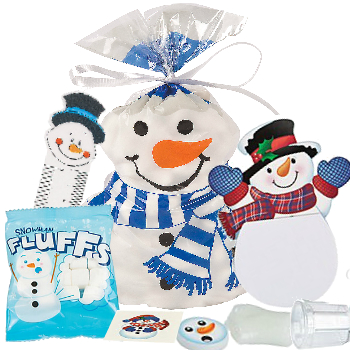 70% OFF: Snowman Treat Bag Filled