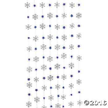 Foil Snowflake 7 ft. Hanging Strings - 12 Pack