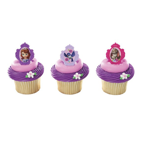 Sofia the 1st Party: Cupcake Rings 8 Pk