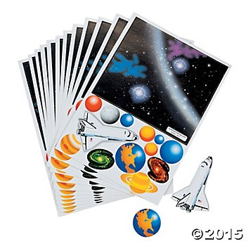 Build Your Own Solar System Sheets - 12 Pk