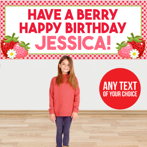 Strawberry PERSONALIZED Giant Banner