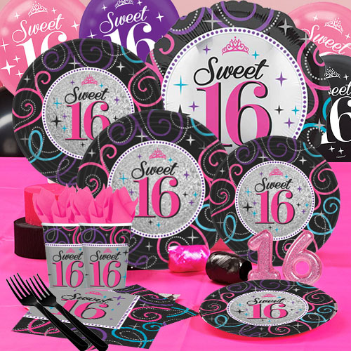 Sweet Sixteen Deluxe Party Pack For 16