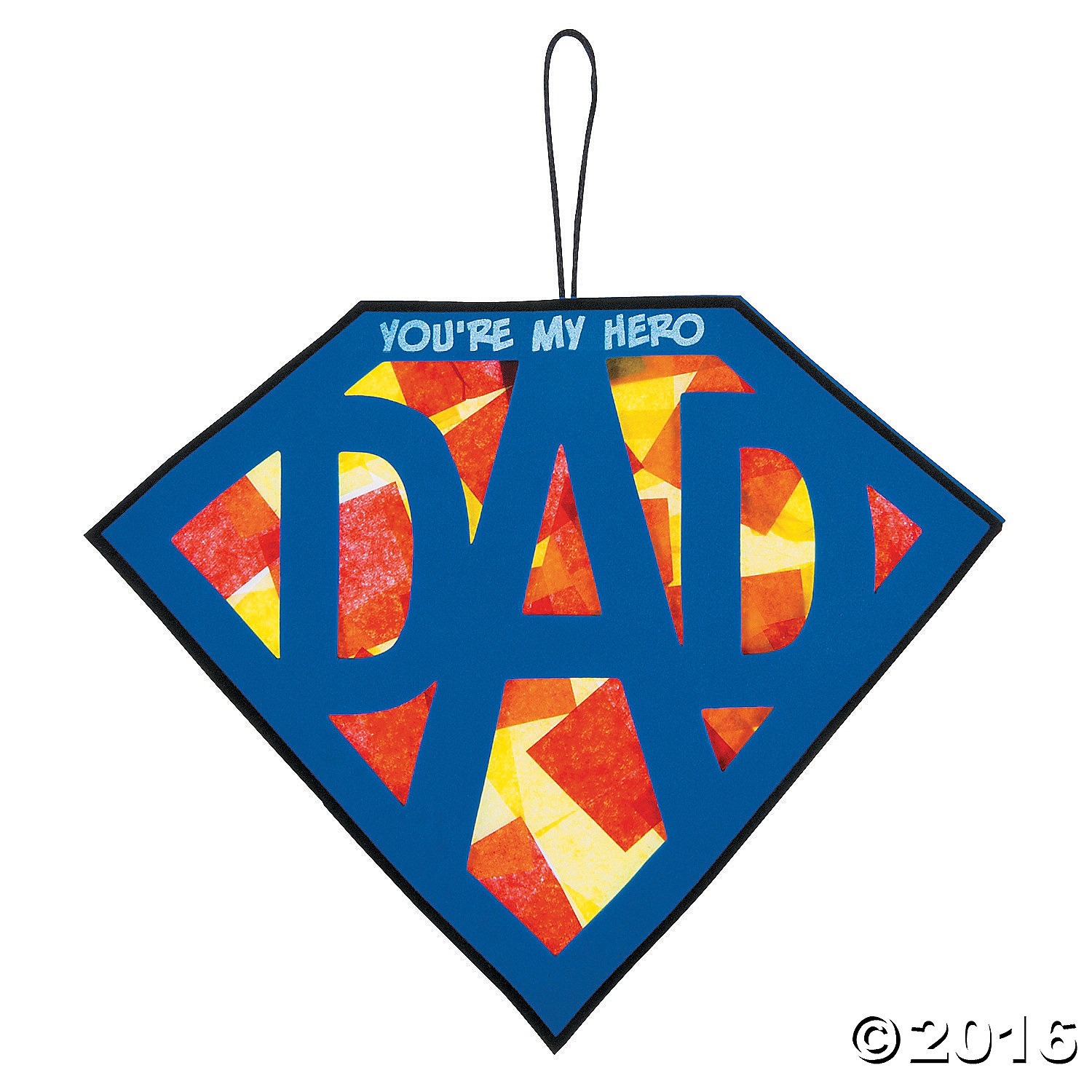 Tissue Paper Super Dad Sign Craft Kit - 12 Pk