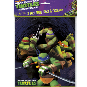 TMNT Party: Loot Bags 8 Pack