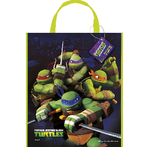 "TMNT Party: 13"" Plastic Tote Bag"