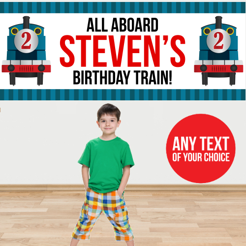 Train PERSONALIZED Giant Banner