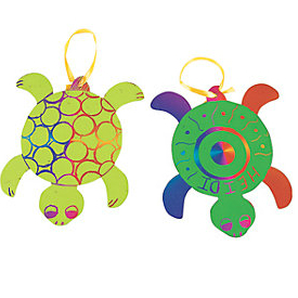 Magic Colour Scratch Turtles w/Tools - For 24