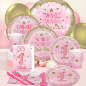 Twinkle Star 1st Girl Party Supplies Party Supplies Canada Open A
