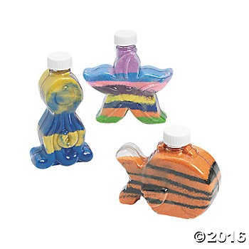 Under The Sea Sand Art Bottles - 12 Pack
