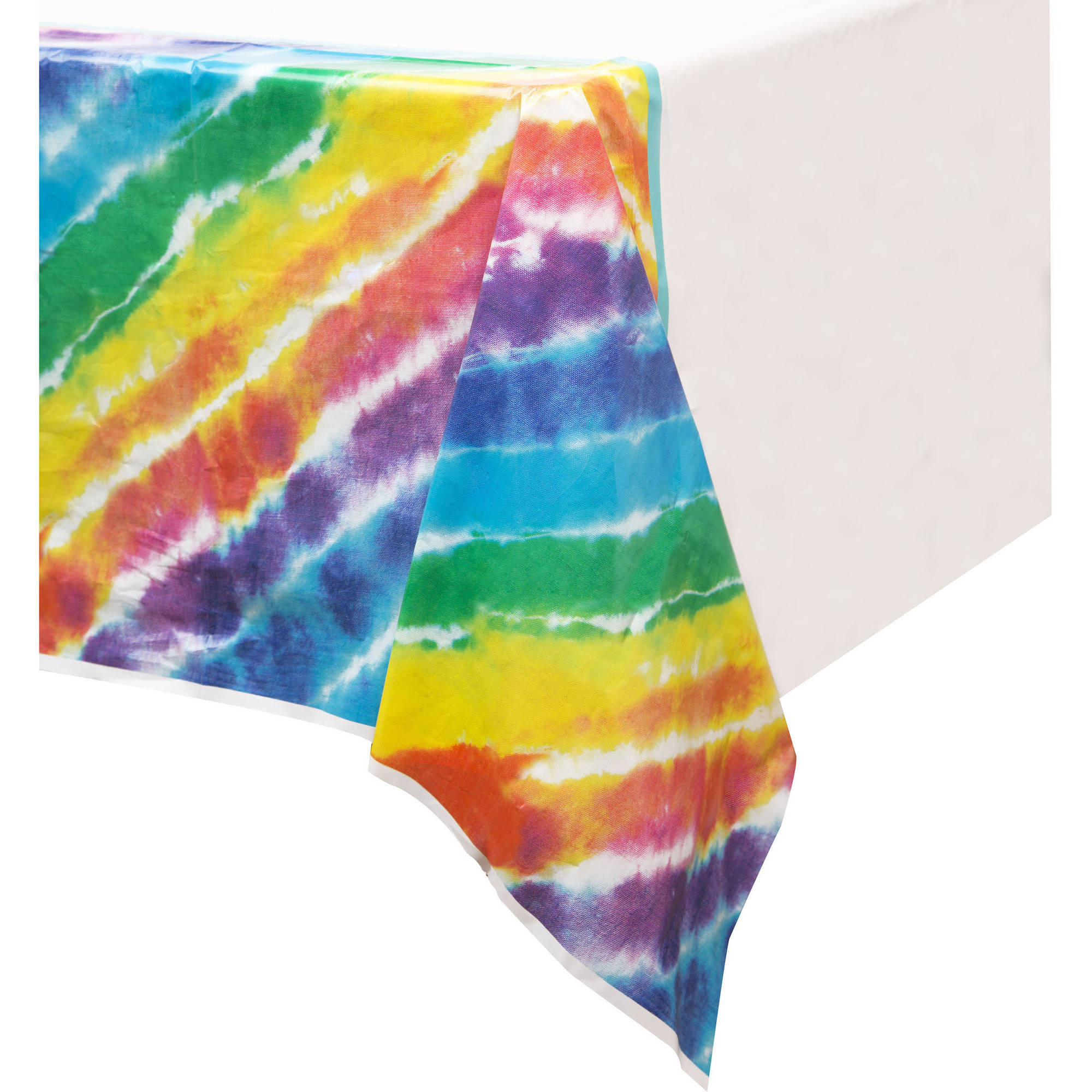 60% OFF: Tie Dye Printed Plastic Tablecover