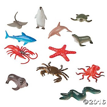 Vinyl Ocean Animals - 6 Sets