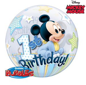 Mickey 1st Jumbo Bubble Balloon