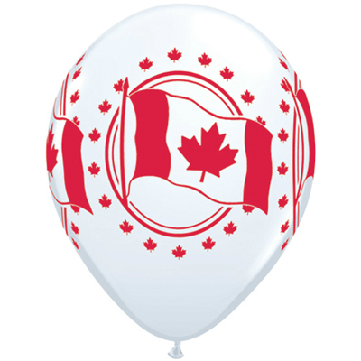 Canadian Flag Large Latex Balloons 50 Pk